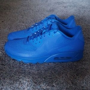 Nike Shoes - Nike ID Custom Blue AirMax 90 size 10.5
